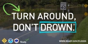 Graphic: Turn Around, Don't Drown. This graphic is part of the Flood Safety collection.